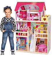 Кукольный домик. Домик для кукол барби +мебель+2куклы в подарок!Будиночок ляльковий