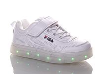 Детские кроссовки со светящей подошвой и с подзарядкой бренда Kellaifeng  (Bessky) для девочек ( 5d11f15db48
