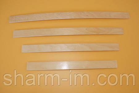 Букова ортопедична ламель 700х53х8 мм з двома кріпленнями, фото 2