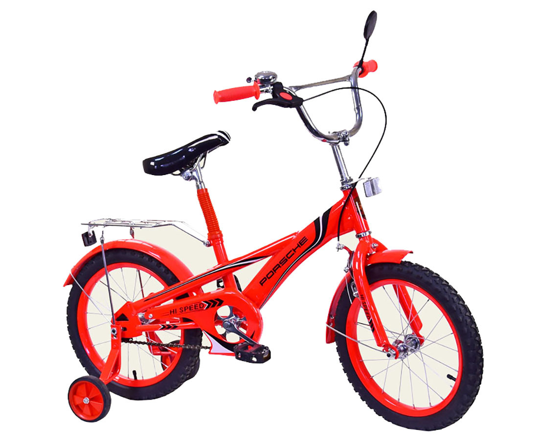 Велосипед 2-х колес 16'' 171631 (1шт) со звонком,зеркалом,руч.тормоз