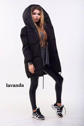 Черная зимняя куртка женская, фото 2