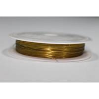 Проволока 50 м 0.3 золото