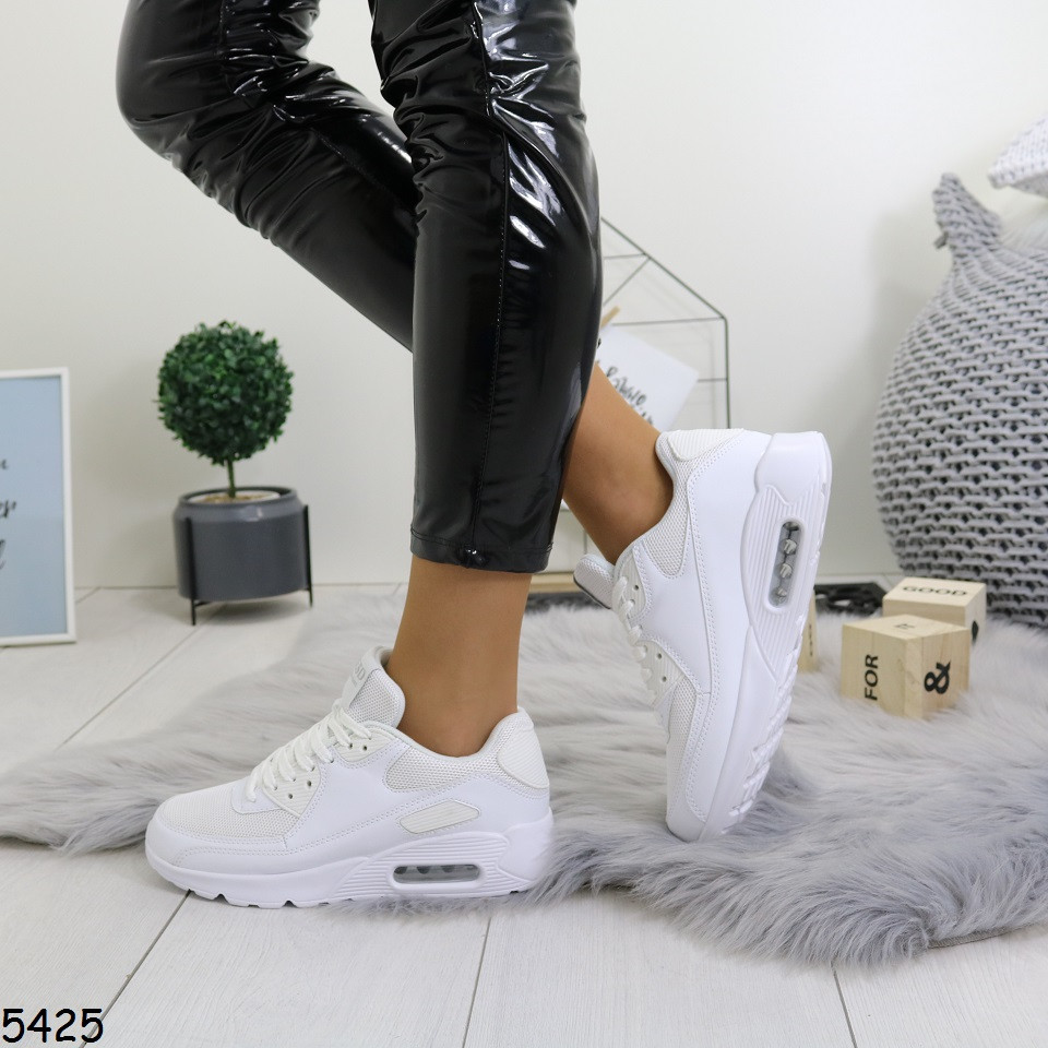 Женские модные кроссовки белые р.  40