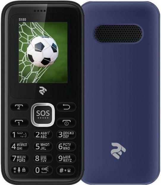 Телефон кнопочный мобильный для пожилых людей на 2 сим карты с хорошей громкостью 2E S180 синий