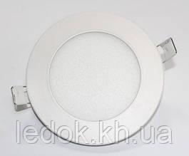 Светильник светодиодный Biom PL-R6 6Вт Slim круглый