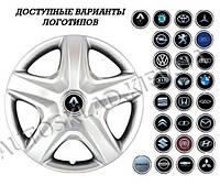 """Колпаки SJS (Турция), 15"""" 340 Renault (к-т 4 шт) + эмблема на выбор"""