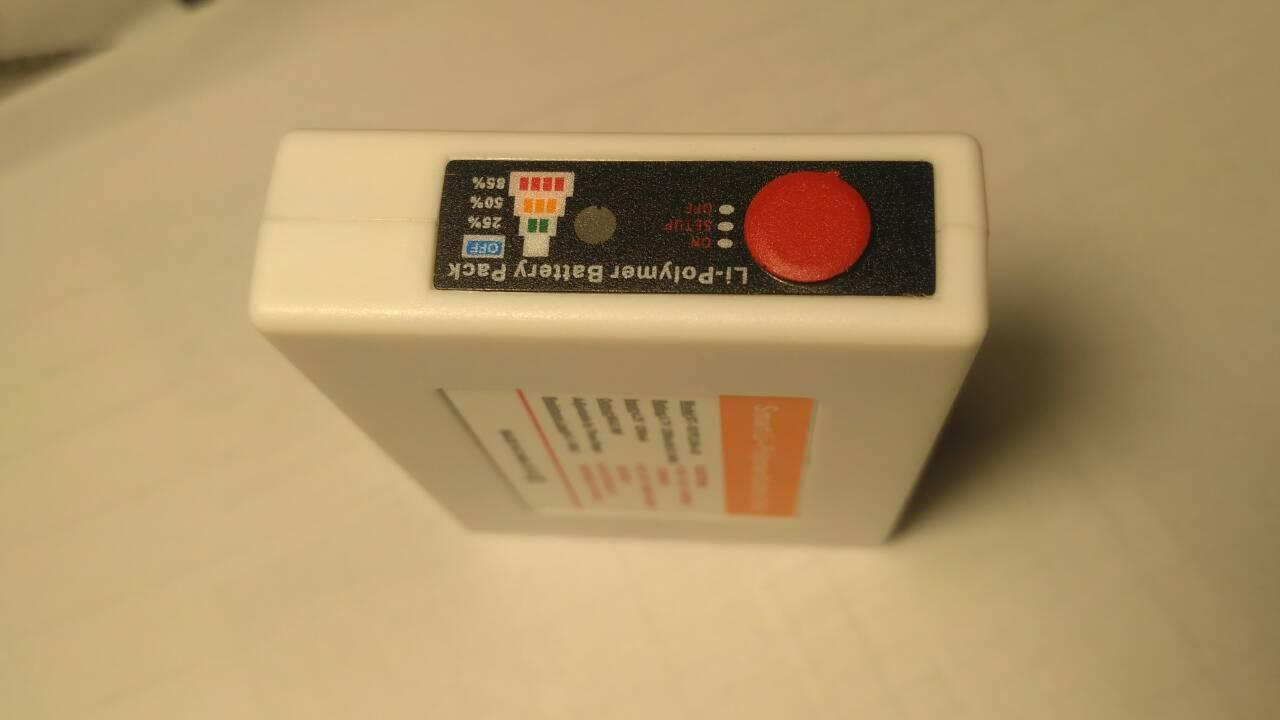 Аккумулятор для одежды с подогревом, Li-Polymer 2200мАh, 3.7V, 3 уровня температуры.