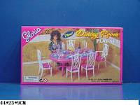 """Меблі для ляльок (кукол) типу """"Барбі"""" """"Gloria"""" 9712 (36шт) столова в кор. 44*9*23 см"""