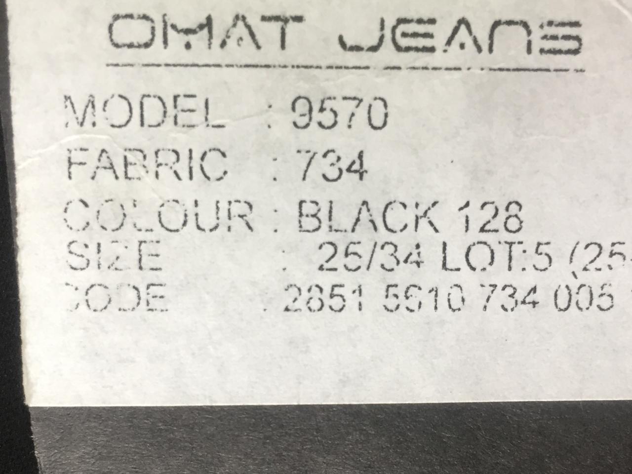 4bb295399f5 Стрейчевые чёрные джинсы Омат 9570