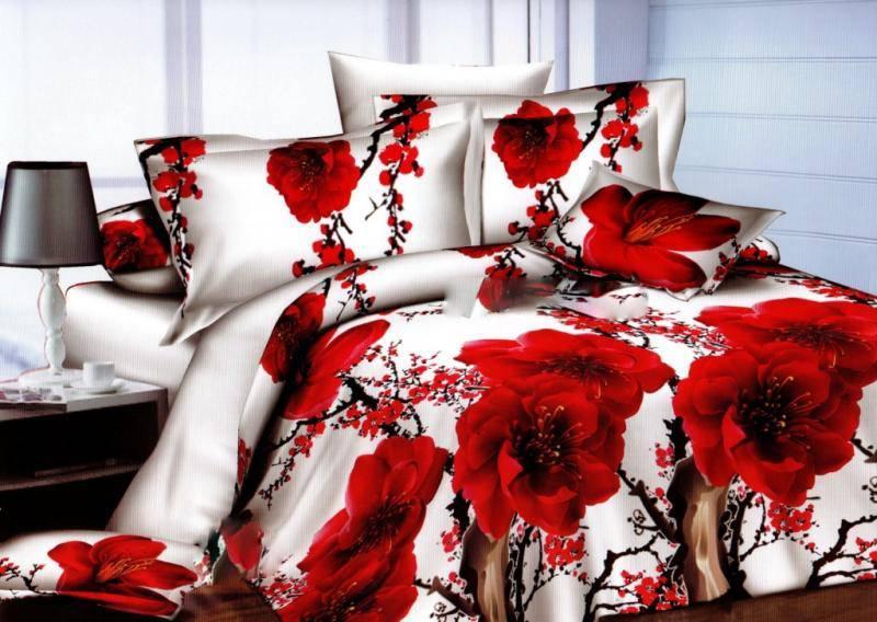 Постельное белье ранфорс двухспальный комплект 52-03
