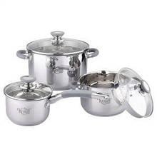 Набор посуды 2л.4л. 6л. из нержавеющей стали 6 предметов Krauff 26-238-021
