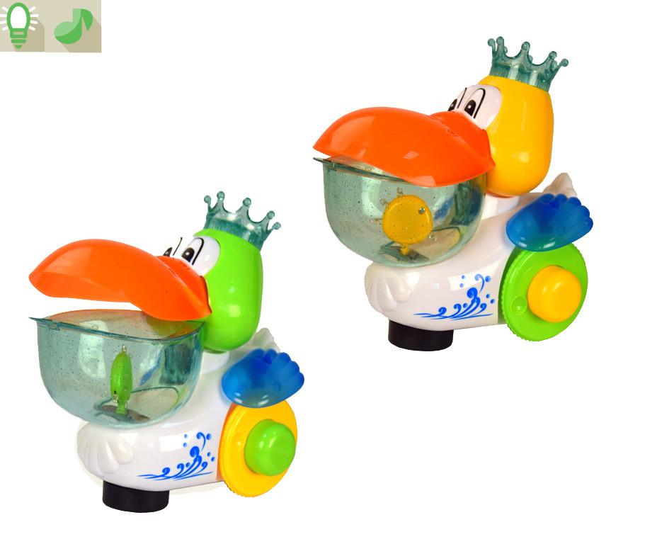 Муз. разв. игрушка 6619A (60шт/2) Утка, муз-свет, в коробке 19*12*19см