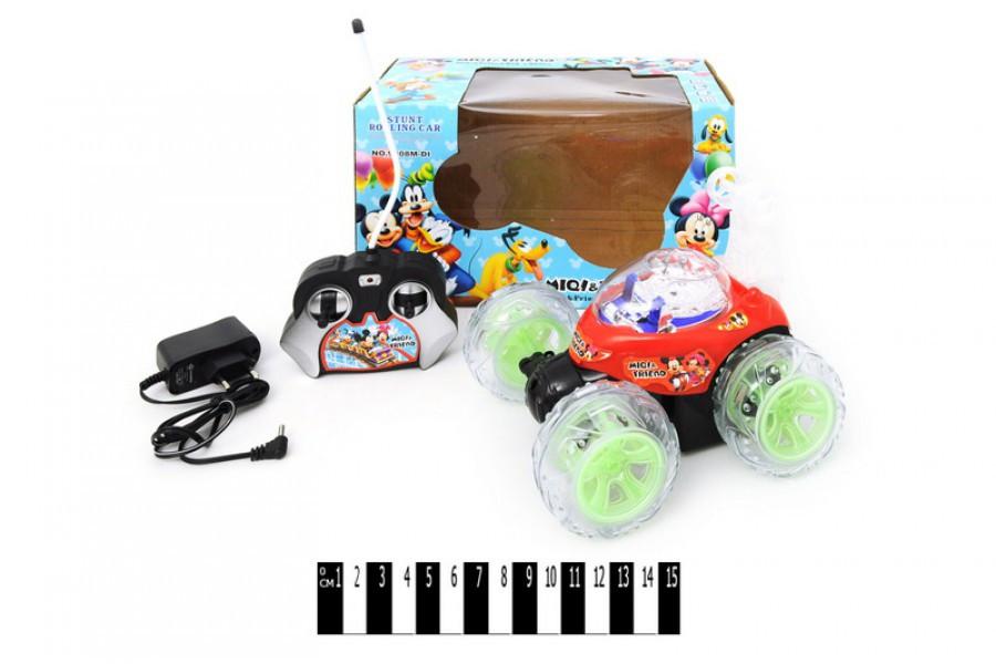 Машина  перевертыш 9808M-DI, свет, звук, машинка на радиоуправлении