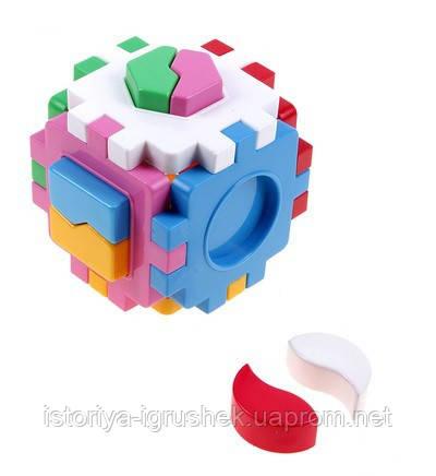 Развивающий сортер Куб Умный малыш Логика-1 (2452 ТехноК)