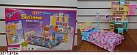 """Меблі для ляльок (кукол) типу """"Барбі"""" """"Gloria"""" 21014 (24шт) спальня з трюмо в кор. 32*7,1*20 см"""