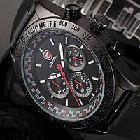 Мужские наручные часы Shark SH271 Men's Red Dashboard Dial Chronograph Analog Quartz Sport Watch, фото 1