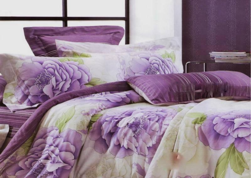 Постельное белье ранфорс двухспальный комплект 38-03