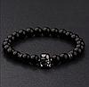 Мужской каменный браслет mod.Stormtrooper black