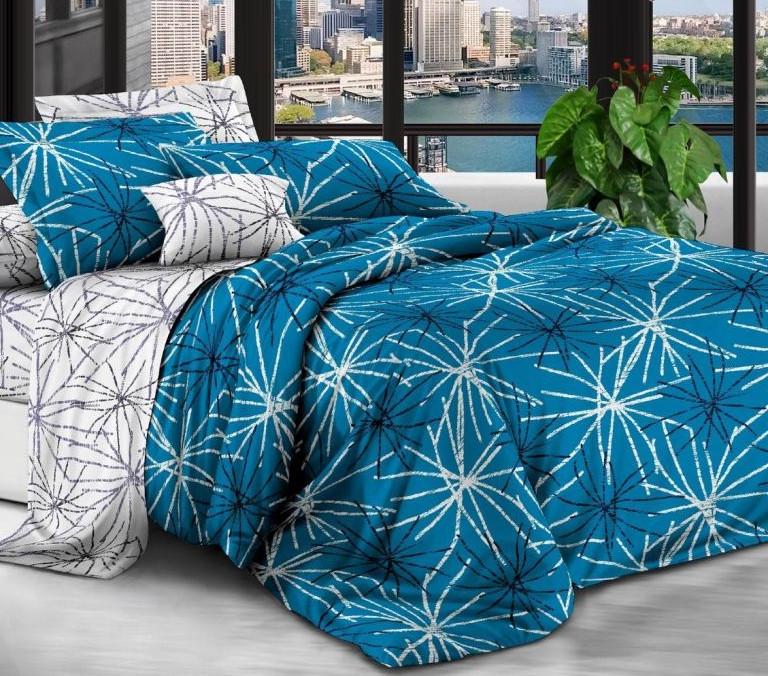 Комплект постельного белья из натурального сатина Салют