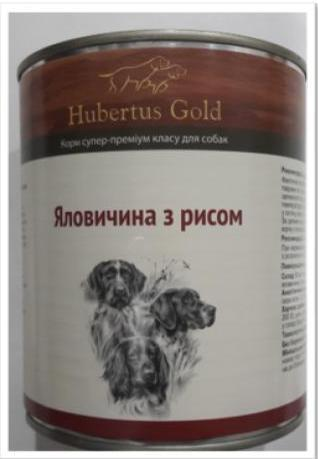Корм консерва Hubertus Gold Хубертус Голд для собак Яловичина рис 800 г