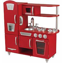 Кухня деревянная Red Vintage Kidkraft 53173