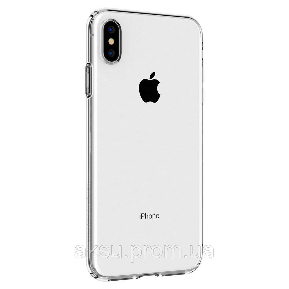 Оригинальный чехол Spigen Liquid Crystal для iPhone XS Max - Crystal Clear (Прозрачный)