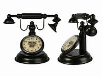 Часы Антик (23,5х31х18 см) Металл. Телефон. Темно-Коричневый