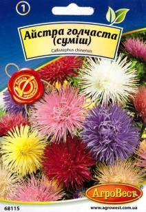 Цветы Астра игольчатая (смесь) 0,3 г (АгроВест), фото 2