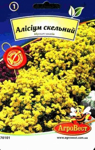 Цветы Алиссиум скальный 0,2 г (АгроВест)