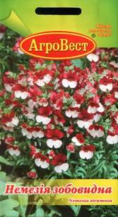 Цветы Немезия зобовидная красно-белая 0,1 г (АгроВест), фото 2