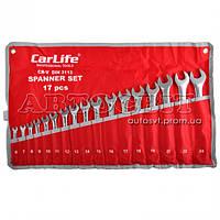 Набор ключей CARLIFE рожково-накидных комбинированных 6-24 мм 17 ед. WR4217