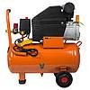 Компресор одноциліндровий 1.5 кВт 198л/хв 8бар 24л (2 крана) Grad (7043535), фото 4