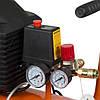 Компресор одноциліндровий 1.5 кВт 198л/хв 8бар 24л (2 крана) Grad (7043535), фото 5