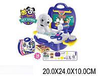 Парикмахерский набор 8357 (1459679) (36шт/2) с собачкой,фен,расческа,зеркало,ножницы…в чемодане 24*2