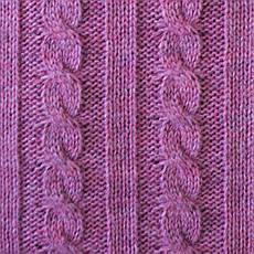 Плед вязаный в косы ягодный 140*180см (50%акрил 50%шерсть), фото 3