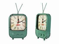 Часы Антик (22,5х15,7х6 см) Металл. TV. Зелёный