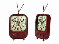 Часы Антик (22,5х15,7х6 см) Металл. TV. Красный