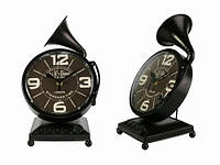 Часы Антик (27х17х12,5 см) Металл. Граммофон. Темно-Коричневый