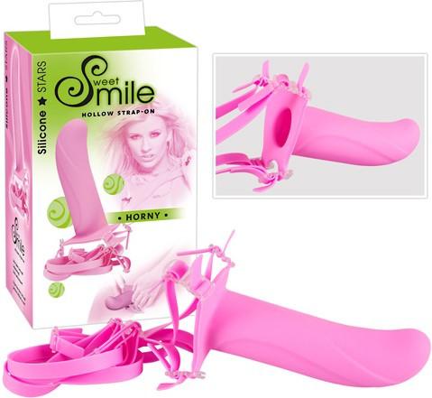 Cтрапон полый Smile Switch Horny, розовый