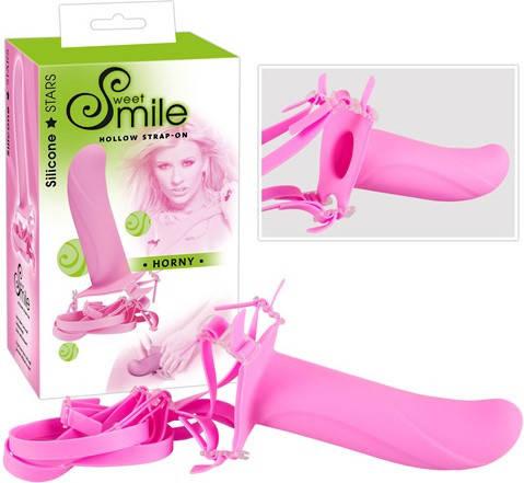 Cтрапон полый Smile Switch Horny, розовый, фото 2