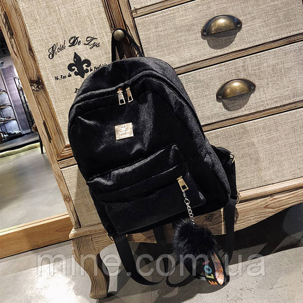 22efc5bd98ed Рюкзак городской женский Plush black, цена 437 грн., купить в ...