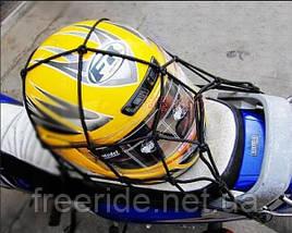 Багажная сетка с крючками для велосипеда мотоцикла (на багажник) 30 х 30, фото 2