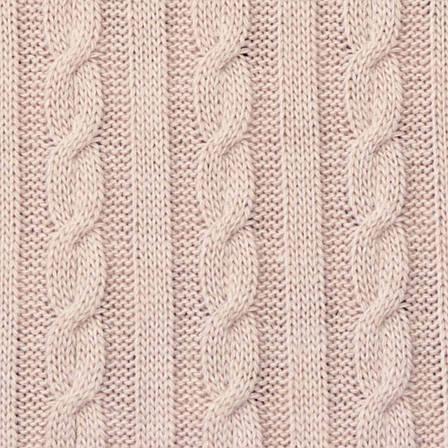 Плед вязаный SOFT косы пудра 140*180см (50%акрил 50%шерсть), фото 2