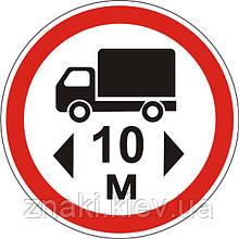 Запрещающие знаки — 3.19 Движение транспортных средств, длина которых превышает …м, запрещено