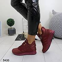 Женские бордовые весенние кроссовки, А 5430