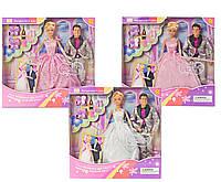 """Кукла """"Defa Lucy"""" 20991 (24шт/2) в свадебном платье, с Кеном, аксесс., в кор.33.5*34*6см"""