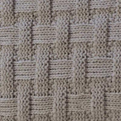 Вязаный плед шато крем 140*180см (50%акрил 50%шерсть), фото 2
