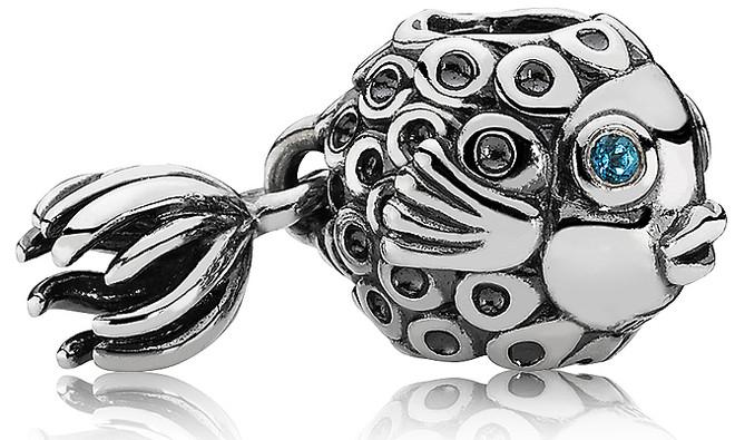 Подвеска-шарм «Рыба ангел» из серебра 925 пробы в стиле Pandora