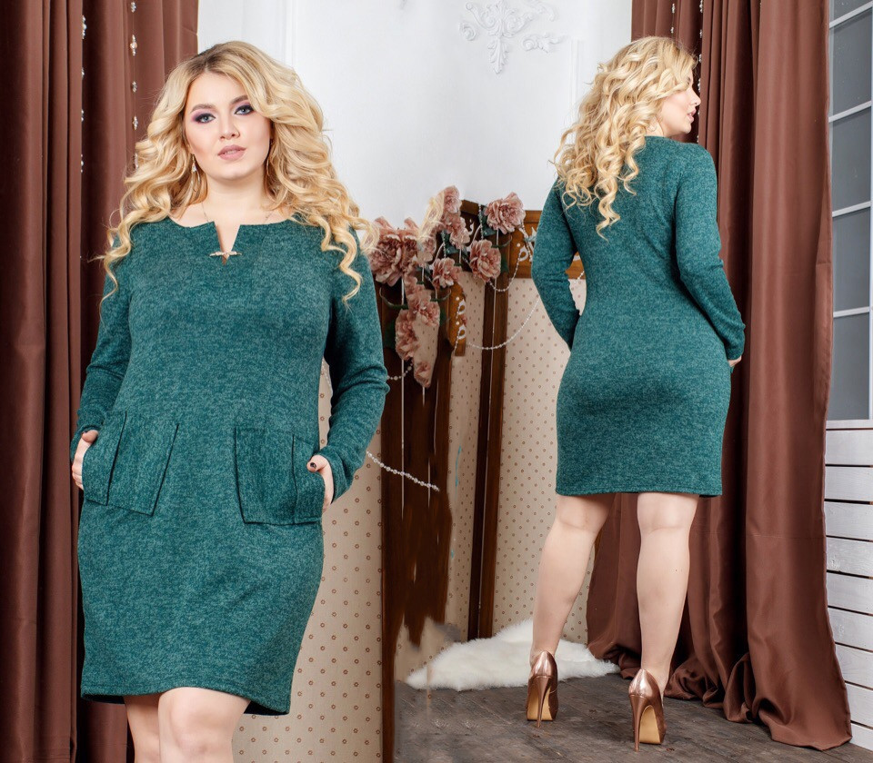 Платье женское короткое ангоровое (К25715)