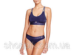aae947c7737c9 Женский комплект нижнего белья Calvin Klein Iron Strength (стринги топ)  реплика, фото 2